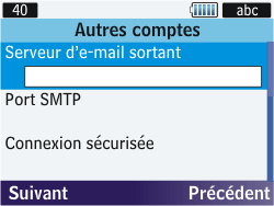 Samsung S3570 Chat 357 - E-mail - Configuration manuelle - Étape 9