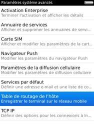 BlackBerry 9800 Torch - Paramètres - Reçus par SMS - Étape 6