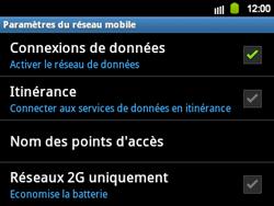 Samsung B5510 Galaxy TXT - Internet - activer ou désactiver - Étape 6
