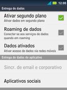 Motorola Master XT605 - Rede móvel - Como ativar e desativar uma rede de dados - Etapa 7