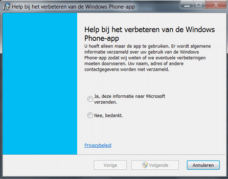 Nokia Lumia 720 - Software - Download en installeer PC synchronisatie software - Stap 4