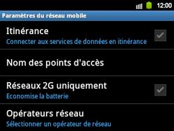 Samsung B5510 Galaxy TXT - Réseau - Utilisation à l