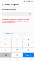 Huawei P9 Lite - Android Nougat - Segurança - Como ativar o código de bloqueio do ecrã -  8