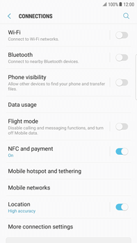 Samsung Galaxy S6 edge+ - Android Nougat - Internet - Enable or disable - Step 5