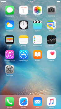 Apple iPhone 6 Plus iOS 9 - SMS - Manual configuration - Step 1