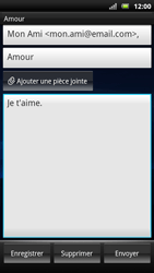 Sony Ericsson Xperia Neo - E-mail - envoyer un e-mail - Étape 6