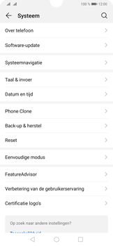 Huawei P30 - Toestel - Fabrieksinstellingen terugzetten - Stap 5