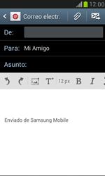 Samsung Galaxy S3 Mini - E-mail - Escribir y enviar un correo electrónico - Paso 8