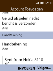 Nokia 8110 - E-mail - Account instellen (POP3 met SMTP-verificatie) - Stap 15