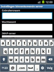Samsung S5570 Galaxy Mini - E-mail - e-mail instellen: IMAP (aanbevolen) - Stap 8