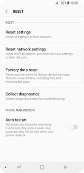 Samsung Galaxy S9 - Device - Reset to factory settings - Step 7