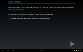 Sony SGP321 Xperia Tablet Z LTE - Applicaties - Account aanmaken - Stap 24