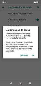 Motorola Moto G7 - Rede móvel - Como definir um aviso e limite de uso de dados - Etapa 13