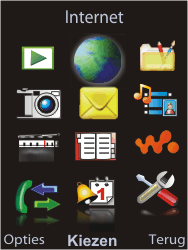 Sony Ericsson W595 - Internet - Hoe te internetten - Stap 2