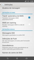 Sony Xperia E4 - SMS - Como configurar o centro de mensagens -  8
