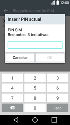 LG Y50 / LEON - Segurança - Como ativar o código PIN do cartão de telemóvel -  8