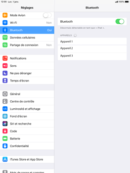 Apple iPad Air iOS 12 - Bluetooth - connexion Bluetooth - Étape 7