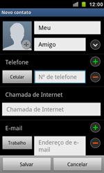 Samsung Galaxy S II - Contatos - Como criar ou editar um contato - Etapa 6