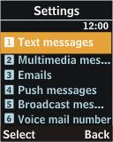 Samsung J700 - SMS - Manual configuration - Step 5