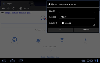 Huawei Mediapad S7-301u - Internet - Navigation sur internet - Étape 5