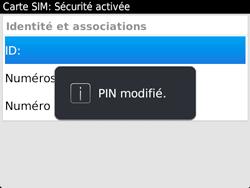 BlackBerry 9720 - Sécuriser votre mobile - Personnaliser le code PIN de votre carte SIM - Étape 12