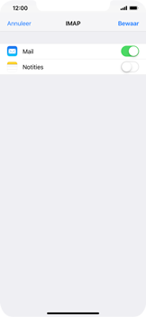 Apple iPhone XS Max - E-mail - e-mail instellen: IMAP (aanbevolen) - Stap 15