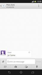 Sony Xpéria SP - Contact, Appels, SMS/MMS - Envoyer un SMS - Étape 11