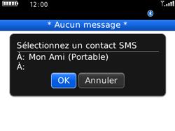 BlackBerry 8520 - Contact, Appels, SMS/MMS - Envoyer un SMS - Étape 9