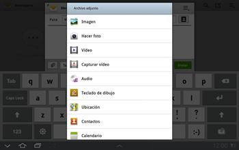 Samsung P7500 Galaxy Tab 10-1 - Mensajería - Escribir y enviar un mensaje multimedia - Paso 11