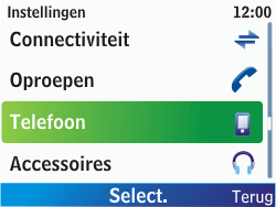 Nokia C3-00 - Bellen - in het buitenland - Stap 4