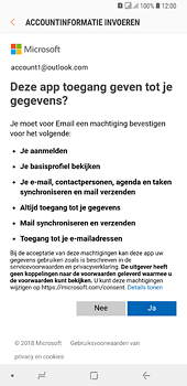 Samsung Galaxy A6 Plus - E-mail - handmatig instellen (outlook) - Stap 9