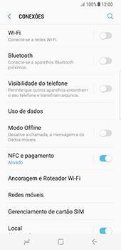 Samsung Galaxy S8 - Wi-Fi - Como configurar uma rede wi fi - Etapa 5