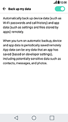 LG K10 2017 - Device maintenance - Create a backup of your data - Step 7