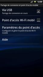 Sony Ericsson Xpéria Arc - Internet et connexion - Utiliser le mode modem par USB - Étape 9