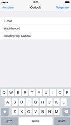 Apple iPhone 6 iOS 8 - E-mail - e-mail instellen (outlook) - Stap 7