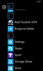 Nokia Lumia 635 - Network - Manually select a network - Step 3