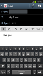 Samsung N7100 Galaxy Note II - Email - Sending an email message - Step 9