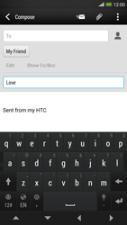 HTC One Max - Email - Sending an email message - Step 9
