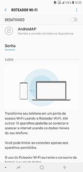 Samsung Galaxy J8 - Wi-Fi - Como usar seu aparelho como um roteador de rede wi-fi - Etapa 7