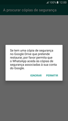 Samsung Galaxy S6 Android M - Aplicações - Como configurar o WhatsApp -  14