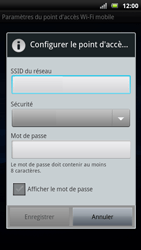Sony Ericsson Xpéria Arc - Internet et connexion - Partager votre connexion en Wi-Fi - Étape 7