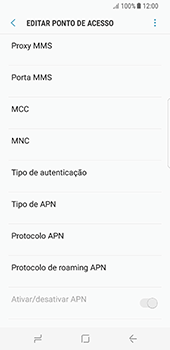 Samsung Galaxy S8 - Internet (APN) - Como configurar a internet do seu aparelho (APN Nextel) - Etapa 12