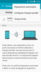 Samsung Galaxy S6 Edge - Internet no telemóvel - Como partilhar os dados móveis -  7
