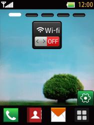 LG T385 - Internet et connexion - Accéder au réseau Wi-Fi - Étape 1