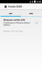 Huawei Ascend Y625 - Segurança - Como ativar o código PIN do cartão de telemóvel -  5