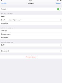 Apple iPad Pro 10.5 inch - iOS 11 - E-mail - Account instellen (POP3 zonder SMTP-verificatie) - Stap 24