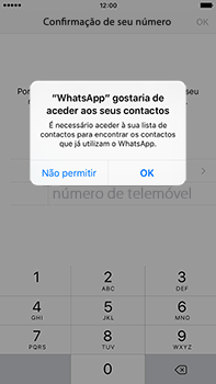 Apple iPhone 6s Plus - Aplicações - Como configurar o WhatsApp -  5