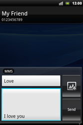 Sony Ericsson Xperia Mini Pro - Mms - Sending a picture message - Step 9