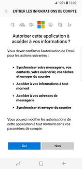 Samsung Galaxy S8 - E-mail - Configuration manuelle (outlook) - Étape 10