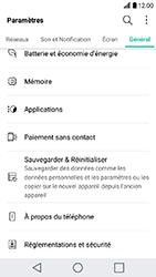 LG K10 2017 - Device maintenance - Retour aux réglages usine - Étape 5